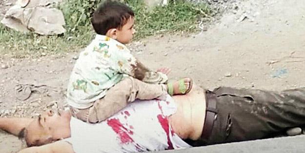 Bu manzaraya yürek dayanmaz! Zalim Hinduların zulmü altındaki Keşmir'den acı kare