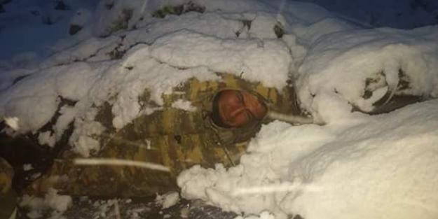 Bu vatan size minnettar… Kar altında uyku molası