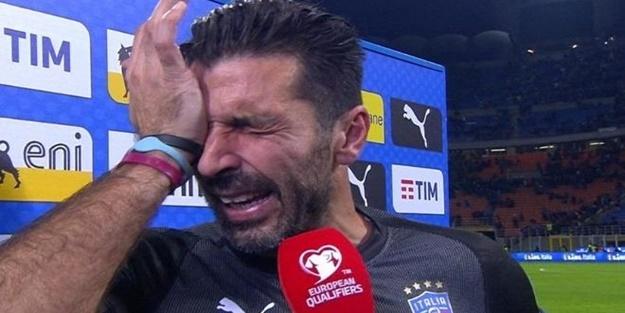 Buffon gözyaşlarını tutamadı