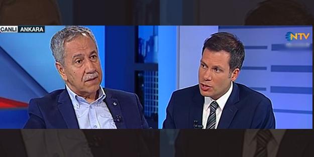 Bülent Arınç NTV sunucusunu azarladı!
