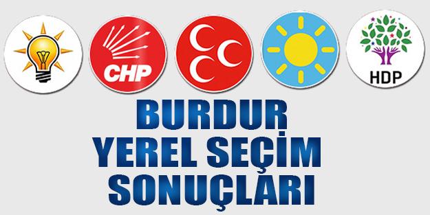 Burdur yerel seçim sonuçları 2019 | Burdur ilçeleri yerel seçim sonuçlar