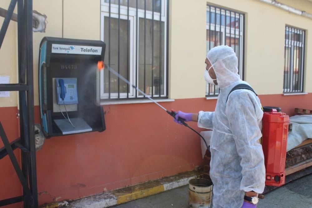 Bursa Adliye ve cezaevlerinde korona virüsüne karşı tedbirler alındı