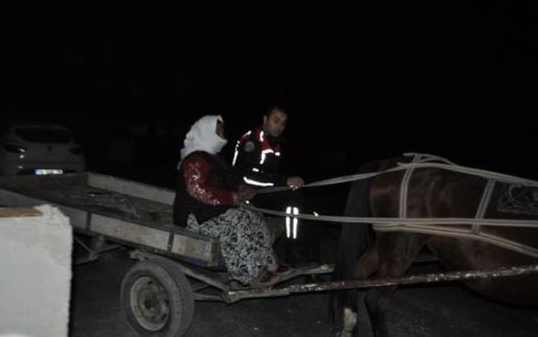 Bursa'da at arabasıyla hırsızlık yapan kadına gözaltı!