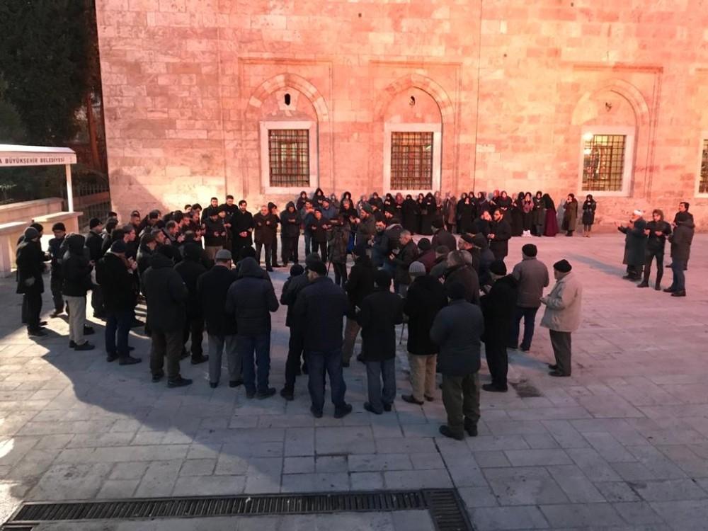 Bursa'da İsrail protestosu