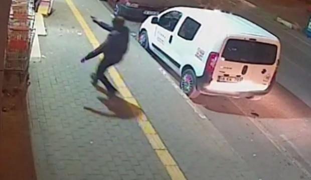Bursa'da korkunç cinayet kamerada