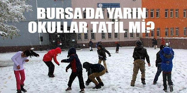 Bursa'da yarın okullar tatil mi?