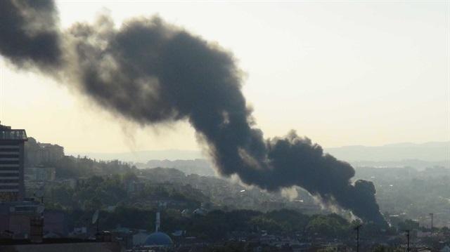 Bursa'daki yangın korkuttu