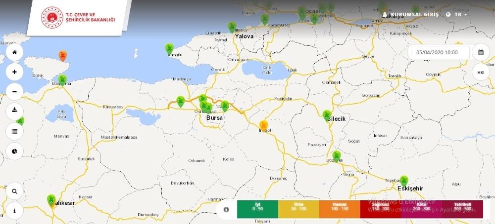 Bursa'nın hava kirliliği yüzde 80 azaldı
