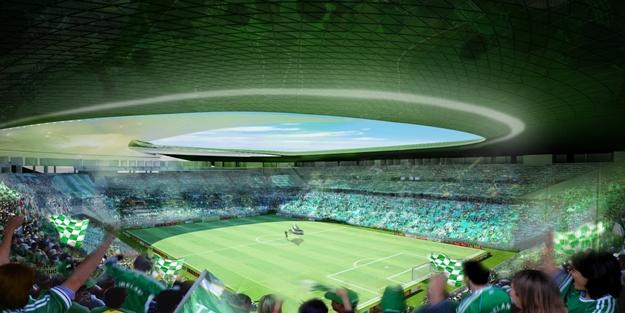 Bursaspor'un yeni stadı Timsah Arena'da görsel şölen
