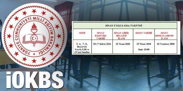 Bursluluk sınavı İOKBS bursluluk sınavı 2020 başvuru