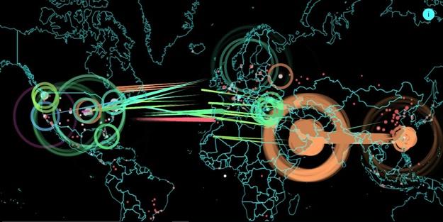 Büyük siber saldırıyı gerçekleştiren ülkeler
