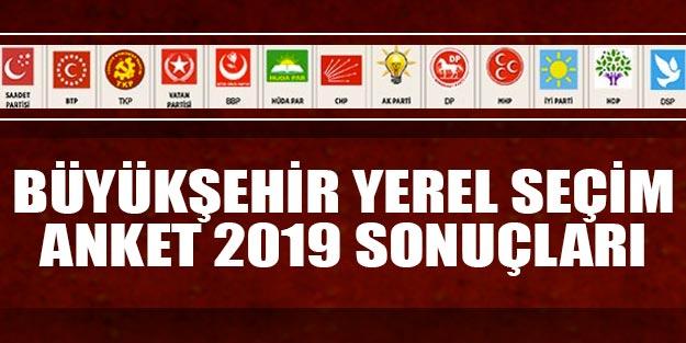 Büyükşehir yerel seçim anket sonuçları 2019 | Büyükşehirlerde kim önde AK Parti CHP MHP İYİ Parti HDP