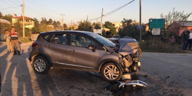 Manavgat'ta feci kaza: 4 yaralı