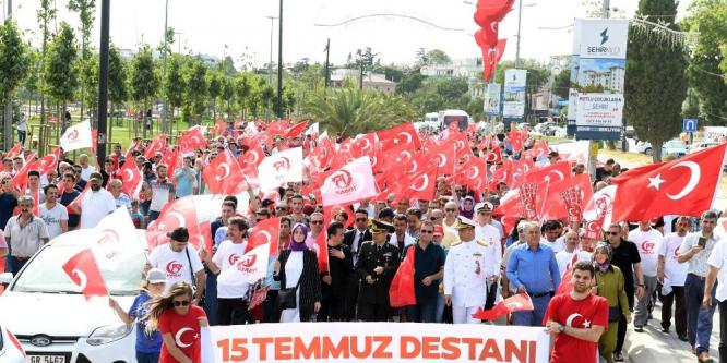 Tuzla Halkı, Milli Birlik Yürüyüşünde bir kez daha kenetlendi