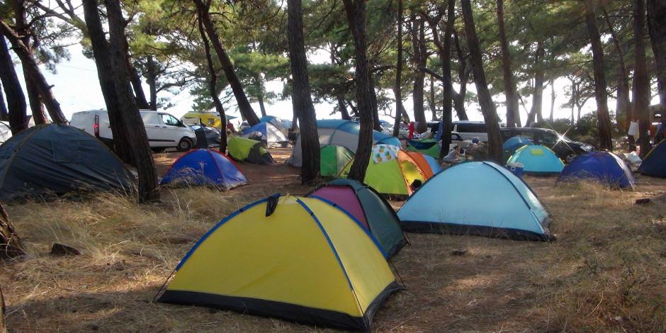Çadır turizmine yoğun ilgi