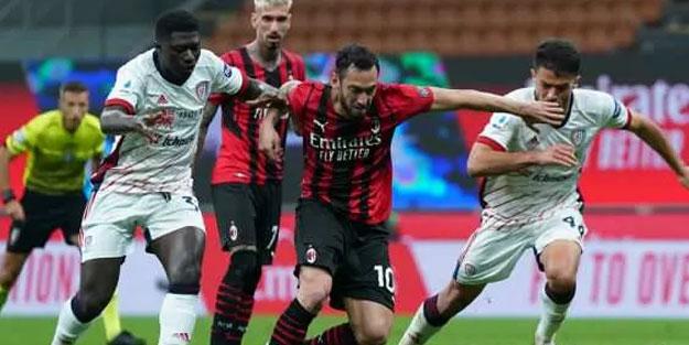 Cagliari ve Milan maçında gol sesi çıkmadı