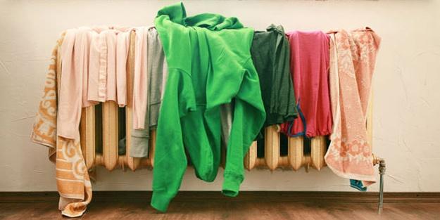 Çamaşırları evin içerisinde kurutmayın!