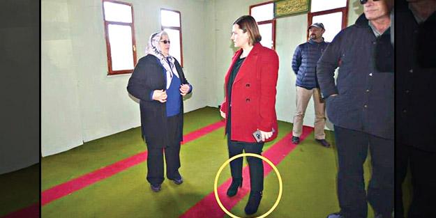Camiye ayakkabı ile girmişti! CHP'li Başkan'dan 'gülünç' savunma