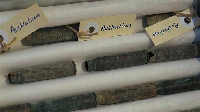 Çanakkale Savaşı'nın mermi kovanları Türkiye'ye iade edildi