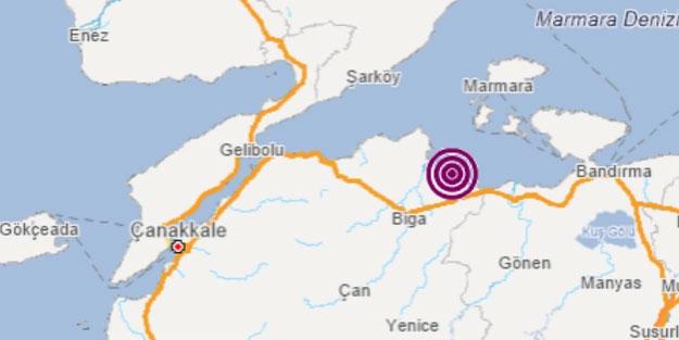 Çanakkale'de deprem büyüklüğü kaç? Çanakkale son depremler