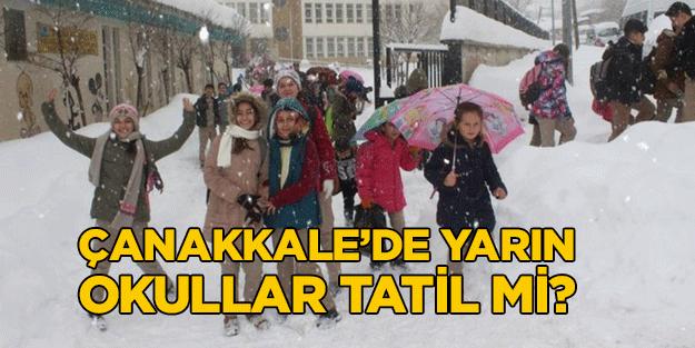 Çanakkale'de yarın okullar tatil mi? Son dakika Çanakkale 25 Şubat Pazartesi kar tatili