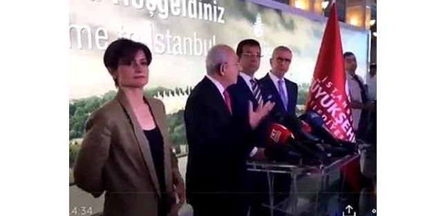 Canan Kaftancıoğlu Kılıçdaroğlu'nun düşen telefonunu havada nasıl yakaladı?