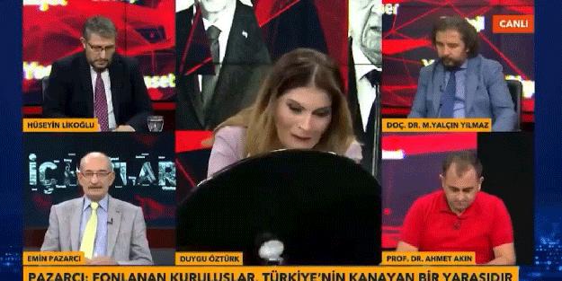 Canlı yayın sırasında masa kırıldı!