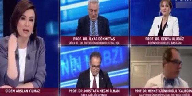 Canlı yayında koronavirüs kavgası! Prof. Dr. Mehmet Çilingiroğlu yayını terk etti
