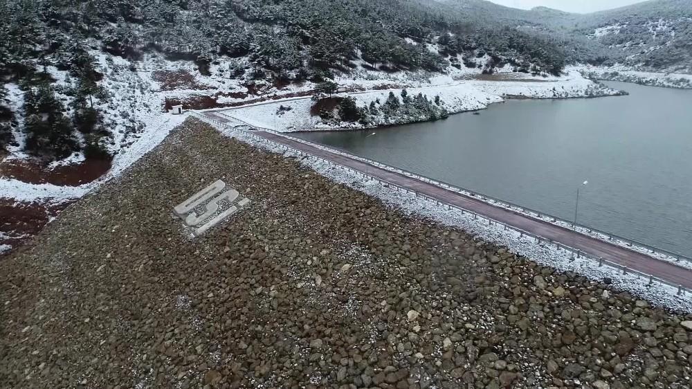 Çatlak oluşan barajdaki çalışmalar İHA tarafından havadan görüntülendi