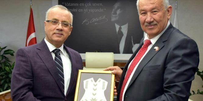 Başkan Kayda Kıbrıslı Başkan Tülücü'yü ağırladı