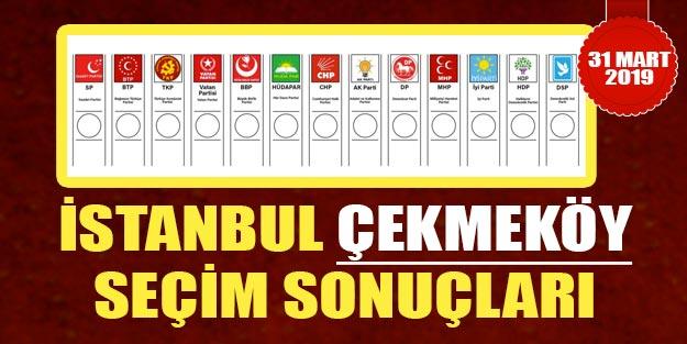 Çekmeköy yerel seçim 2019 sonuçları | Çekmeköy belediye seçim sonuçları | Cumhur ittifakı Millet ittifakı oy oranları