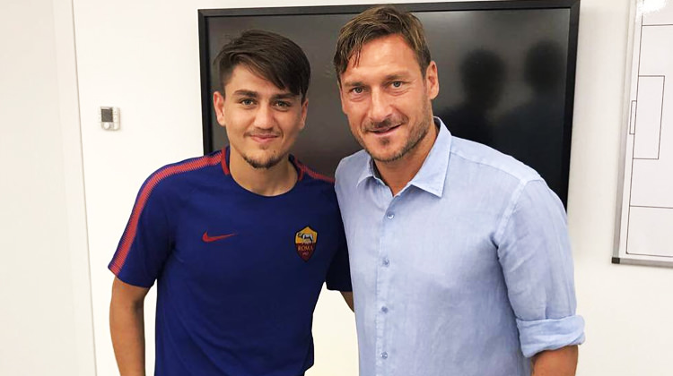 Cengiz, Totti ile karşılaşmasını anlattı