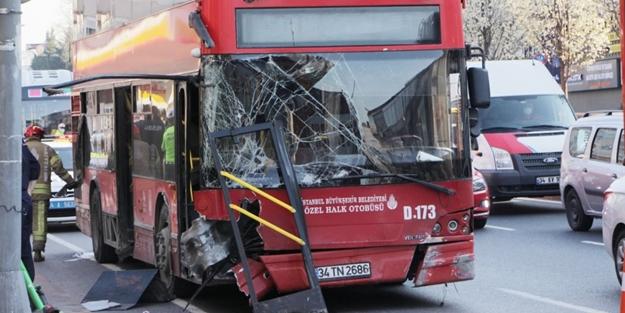 Cep telefonuna bakarken kaza yapan otobüs şoförü tutuklandı