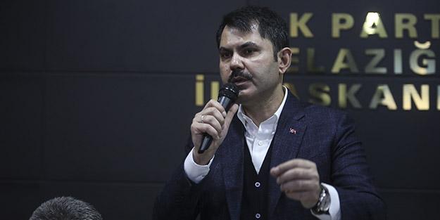 Bakan Kurum açıkladı! Elazığ'da yaklaşık 19 bin bağımsız bölümden oluşan konut projeleri başladı