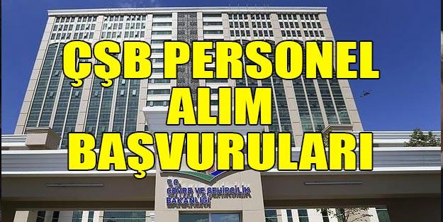 Çevre Ve Şehircilik Bakanlığı sözleşmeli personel alımları 2019 CSB alımları