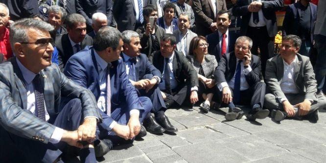 Ankara'da eylemde gerginlik
