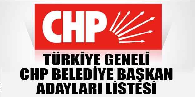 Türkiye geneli il ilçe CHP 2019 adayları listesi