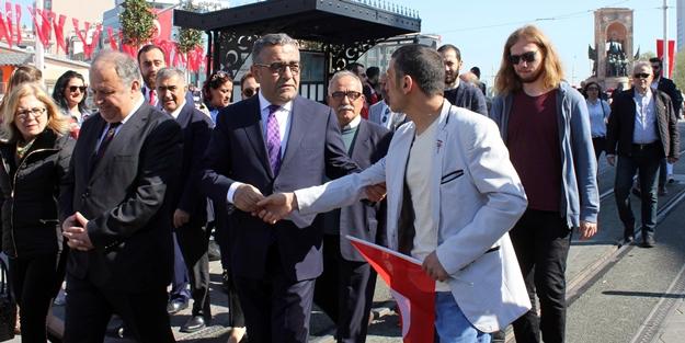 Taksim'de CHP'li vekili şok eden protesto!