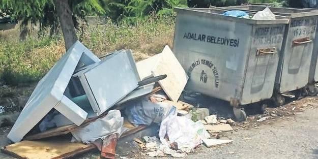 CHP'li belediye Adalar'ı çöplüğe çevirdi