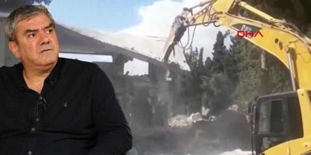 CHP'li belediyeden yıkım tiyatrosu: Vatandaşa dozerle, Özdil'e okşayarak muamele