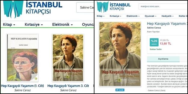 CHP'li İBB'den skandal! Terörist Sakine Cansız'ın kitabını satmaya başladılar!
