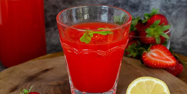 Çilekli limonata nasıl yapılır? Çilekli naneli nefis limonata tarifi