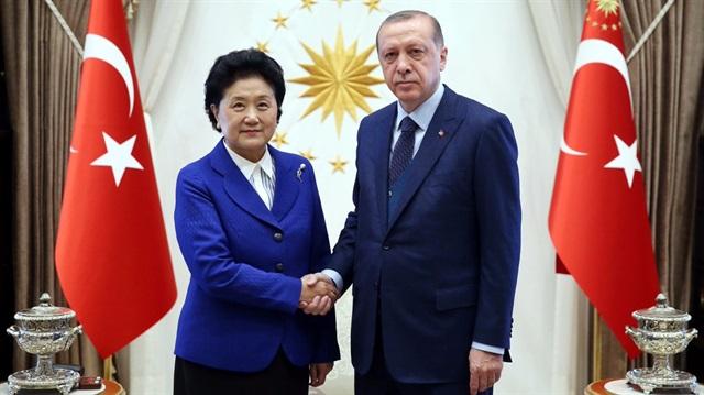 Çin Başbakan Yardımcısı Külliye'de