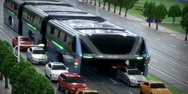 Çin'den trafiğe çözüm: Katil otobüs