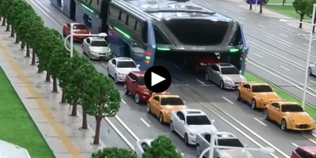 Trafik sorununu ortadan 'kaldıracak müthiş otobüs'