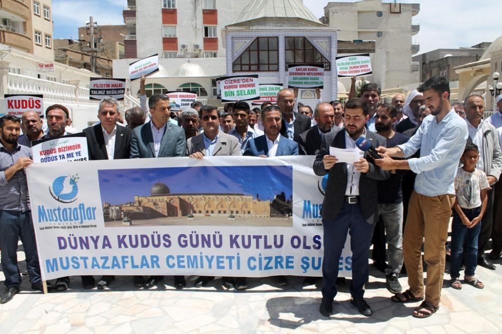 Cizre'de israilin Kudüs işgali kınandı