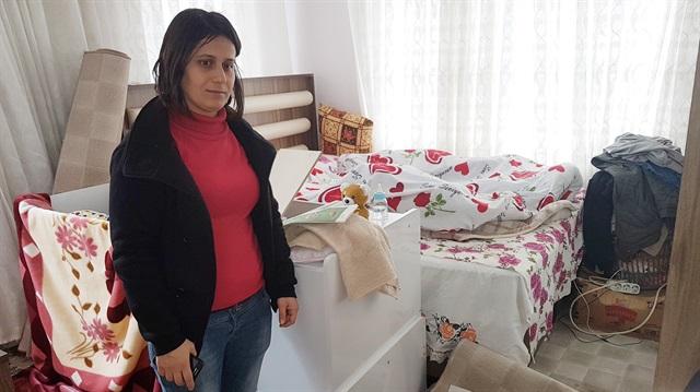 Çocuğunu emzirmek için eve gelen kadına hırsız şoku