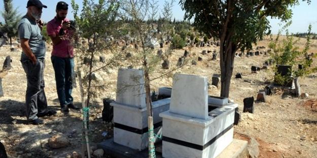 Çocuk mezarına patlayıcı yerleştirmişler!
