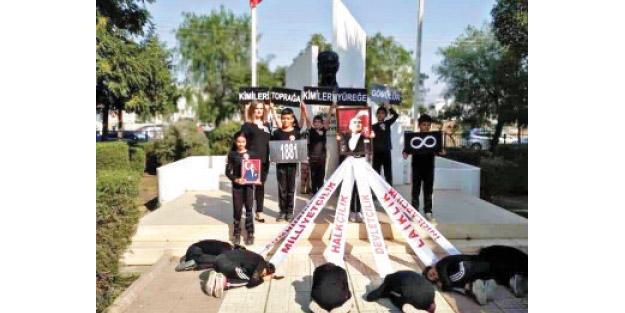 Çocukları heykel önünde secde ettiren Kemalist kafaya tepki yağıyor! Bunun adı eğitim değil, putçuluktur