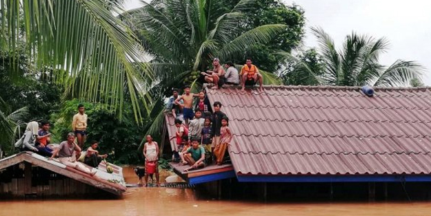 Çöken baraj nedeniyle Laos'ta 3 bin insan kurtarılmayı bekliyor!